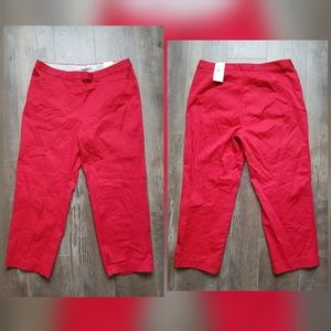 Tommy Hilfiger NWT red stretch capri pants
